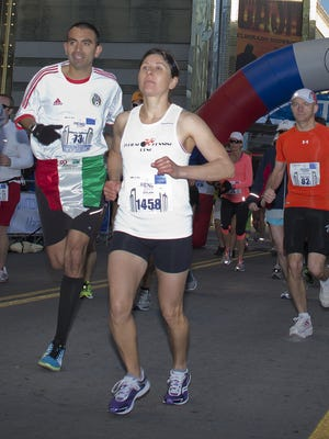 Ramona Sanchez, from Sparks, won the women's portion of the marathon in 2014.