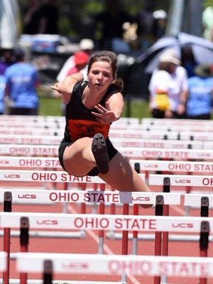 Alexis Prater competed in the girls 100-hurdles at last year's state meet. Prater will look to add to her accolades during Friday's Inter-Valley Conference track and field meet.