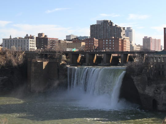 The High Falls are a centerpiece of downtown Rochester.