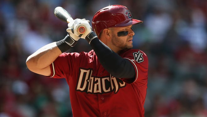 Cody Ross of the Diamondbacks bats against the Philadelphia Phillies during the MLB game at Chase Field on April 27, 2014 in Phoenix, Arizona.