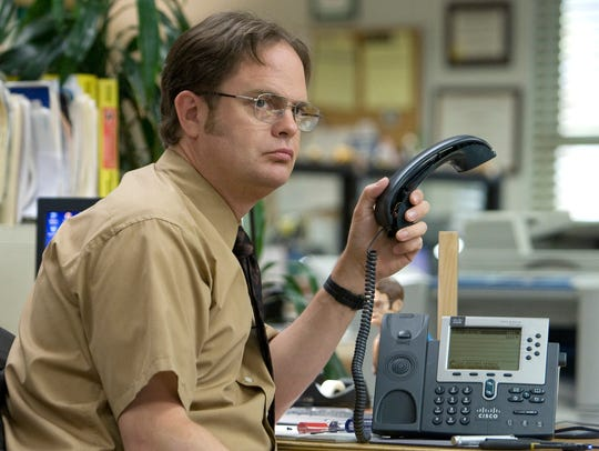 Try not to be like Dwight Schrute (Rainn Wilson)  in