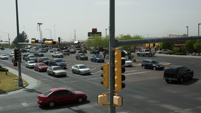 U.S. Census estimates released Thursday in 2016 indicate the population of Doña Ana County is 214,207. Pictured is the intersection of Lohman Avenue and Nacho Drive in Las Cruces.