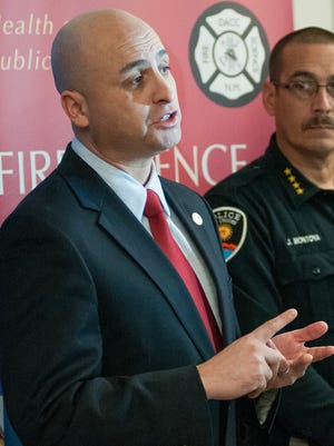 Attorney General Hector Balderas, speaking during a public safety press conference in Las Cruces in December, released a statement Monday that his office had cleared 10 behavioral health providers across the state of fraud allegations.