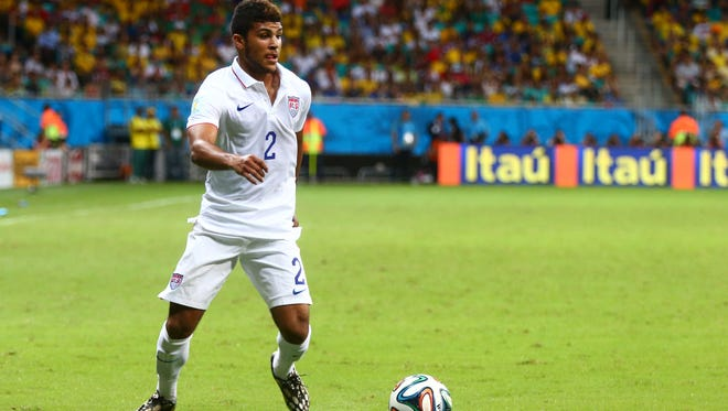 DeAndre Yedlin during the knockout stage match against Belgium at the World Cup.