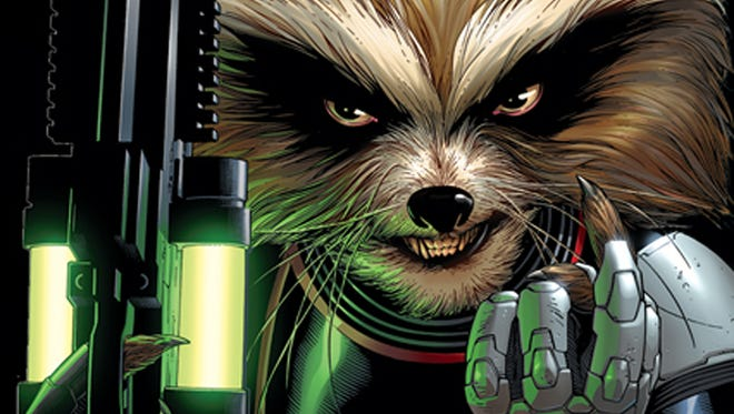 "Bradley Cooper will voice the comic-book fan favorite Rocket Raccoon in the upcoming movie ""Guardians of the Galaxy."""