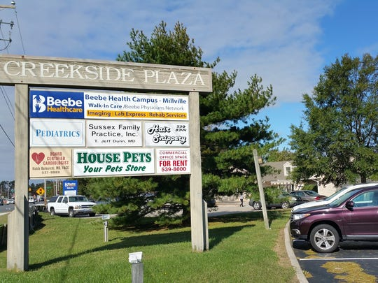 A file photo of Creekside Plaza in Millville, where Beebe's Walk-In Clinic is open year-round.