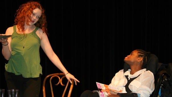 "Rasheedah Mahali with Megan Reinking performing Mahali's ""Coffee Cake"" in Full Circle 2009."