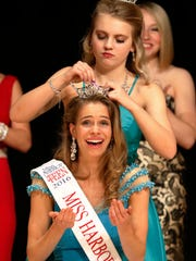Sarah Niehueser is crowned 2016 Miss Harbor Cities Outstanding Teen at the annual pageant held at Silver Lake College on Saturday, March 12. Eleven Wisconsin women and three Wisconsin teens competed in the event.