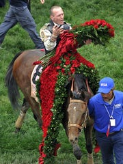 Calvin Borel, riding Mine That Bird, reacts after winning the 135th Kentucky Derby horse race at Churchill Downs in 2009.