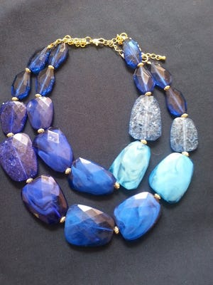Wear all the hues of the deep blue sea around your neck, popped against another bright or as a stand-out in a neutral-toned outfit. $22 at A.J. Martin at Park Place, 2817 West End Ave. in Nashville. ajmartinonline.com; 615-321-4600
