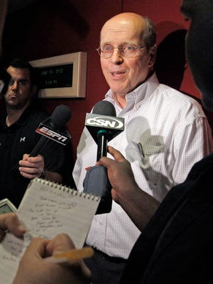 Bowl Championship Series Director Bill Hancock speaks during a news conference in 2012.