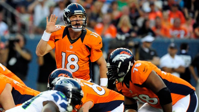 QB Peyton Manning and his O-line will keep a close eye on Seattle's pass rushers.