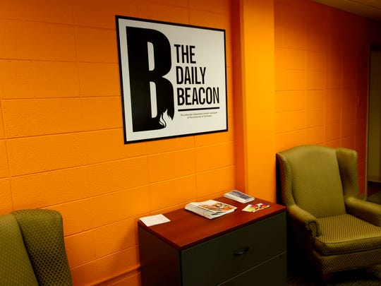 UT Daily Beacon newsroom in the College of Communication