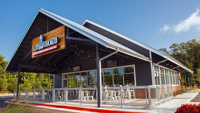 The Slim Chickens restaurant in Ridgeland will contain 3,000 square feet, be open seven days a week, offer table service as well as a drive-through window and employ about 50 people. The restaurant is expected to open in June or July.