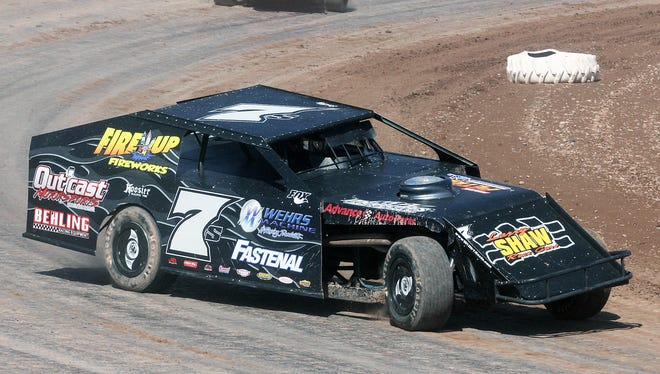 Eric Scribner of Kiel, the 2015 IMCA modified champion at Seymour Speedway, races at the track. IMCA modifieds will not be part of the 2016 program.