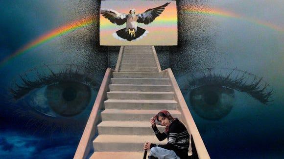"""Gatekeeper,"" an original 18-by-16-inch artwork by"