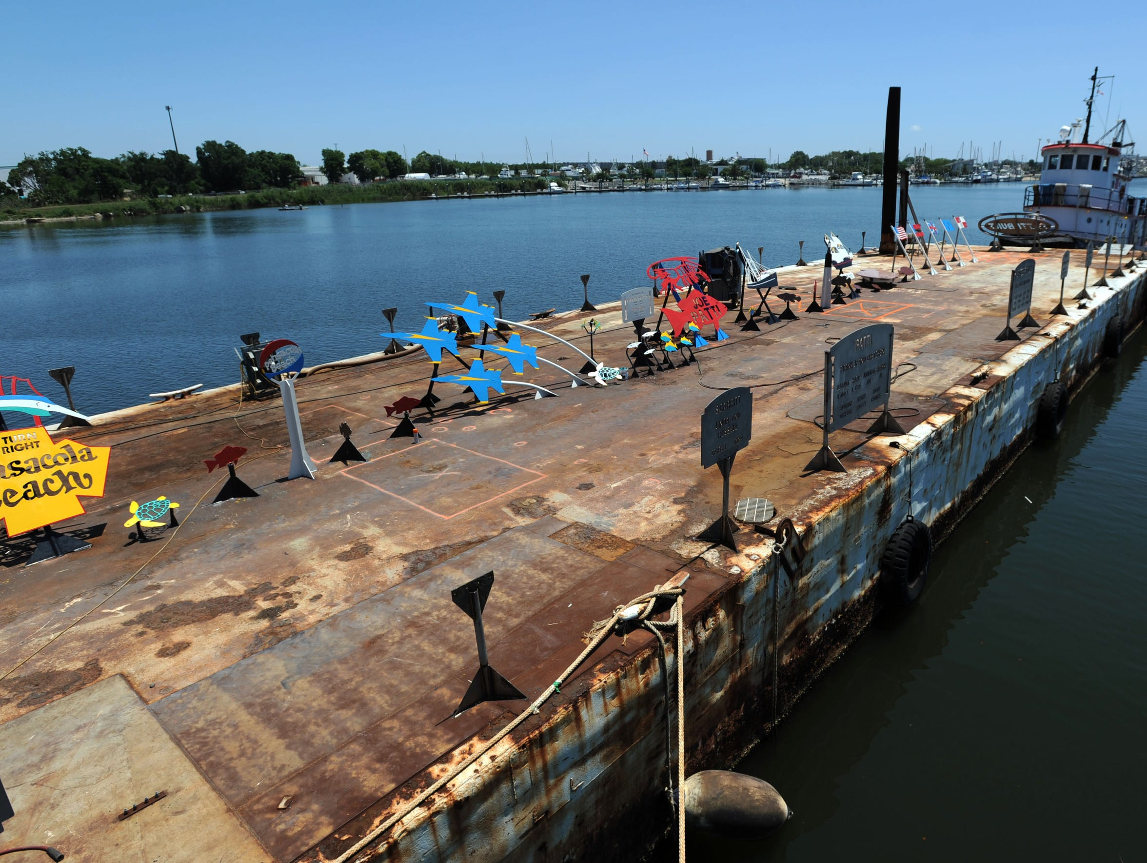 The Patti Memorial Reef barge project started as a