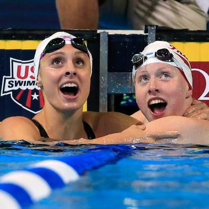 IU's Lilly King at the U.S. Olympic trials