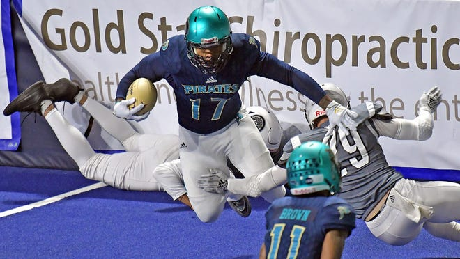 The Massachusetts Pirates are driving ahead with plans for a 2021 indoor football season.