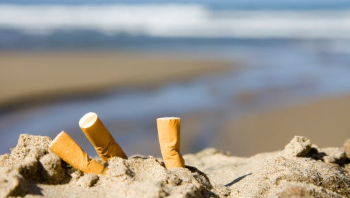 Cocoa Beach couldn't, even if it wanted to, ban cigarettes from the beach.