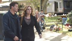 David Boreanaz and Emily Deschanel in Fox's 'Bones.'