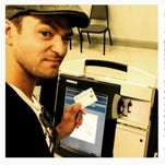 Justin Timberlake at early voting in Germantown