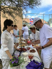 Scones and other traditional English sweets enlivened Alto Lakes Tennis Association's annual Breakfast at Wimbledon mixer