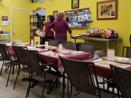 The dining area of Heritage Restaurant at 6935 Heritage Drive in Port St. Lucie.