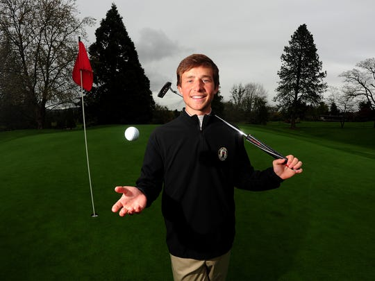 West Salem senior Michiel Eyre at Illahe Hills Country Club, on Friday, April 3, 2015, in Salem. Eyre is one of the top golfers in the state.