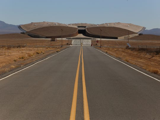 Visitors to Spaceport America on the ground first get this view of the Gateway to Space, which houses the hangar and office space at Spaceport America.