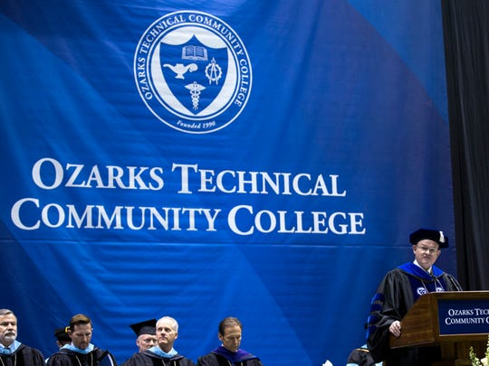 The 2018 commencement ceremony for Ozarks Technical Community College at JQH Arena.