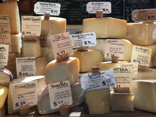 More than 150 cheeses from around the world are available