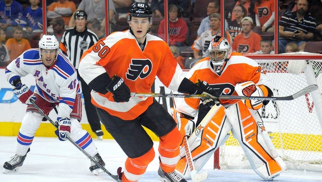 Sam Morin has been a bright spot in preseason for the Flyers and is hoping he can stick, at least for nine games before being sent back to his junior team.