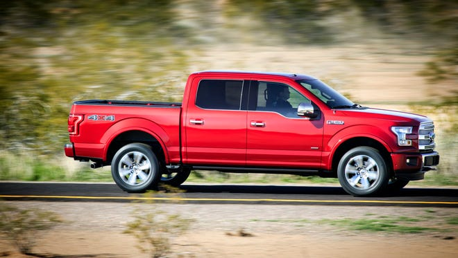 Ford has posted gas mileage for its aluminum-bodied 2015 F-150 pickup