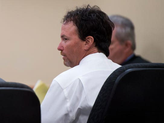 Billy Jason Carson during his sentencing hearing in