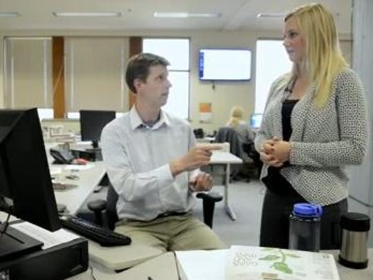 "Here's a shot from the ""Day in the Life of an Intern"" themed video. The short video entailed me getting bossed around by various members of the newsroom which was, of course, all acting."