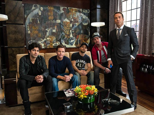 Adrian Grenier (left), Kevin Connolly, Jerry Ferrara, Kevin Dillon and Jeremy Piven return for the 'Entourage' movie.
