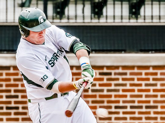 Michigan State first baseman Blaise Salter went 940th overall (31st round) to the Tigers in the 2015 MLB draft. Salter, right-handed, hit .268 his senior season in 57 games with 6 home runs and 40 RBIs.