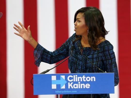 Michelle Obama at La Salle University in Philadelphia