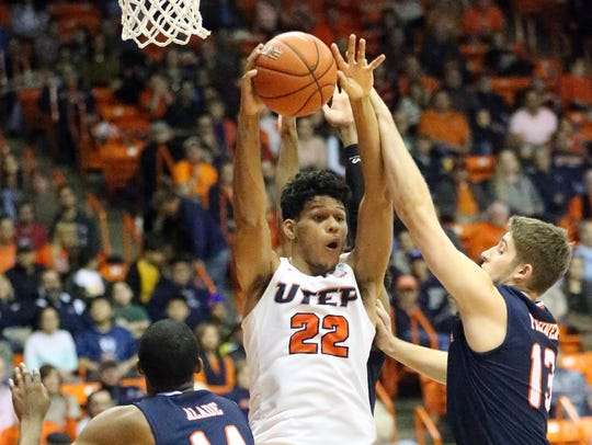 The UTEP men hosted UTSA Saturday night in the Don