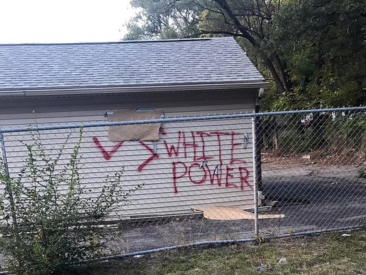 Royal Oak Police Are Investigating Racist Graffiti Spray Painted On Cars Garages And Fences Over The Weekend