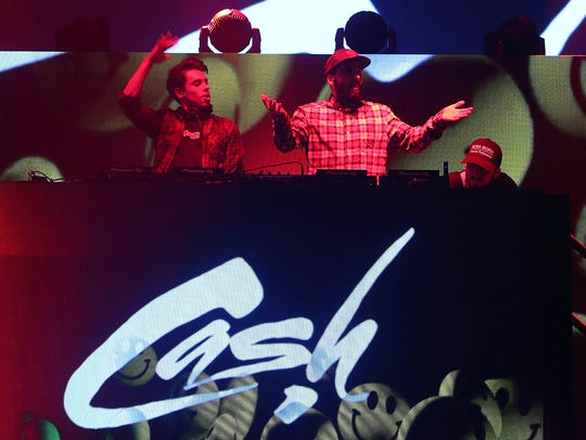 Cash Cash perform at the TPC Scottsdale Birds Nest