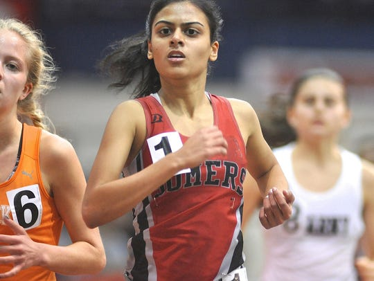 Somers' Anjali Kapur runs girls 2-mile race at Eastern