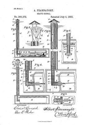 Albert Fearnaught's patent illustration