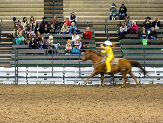 The horsemanship round of the Miss Rodeo Montana 2017