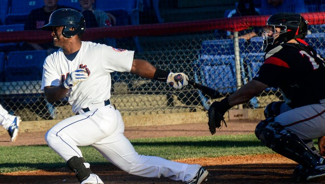 Dilson Herrera batted .345 with six home runs through his first 35 games with the B-Mets.