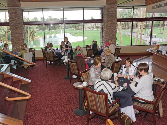 Bridge players enjoying an afternoon at the Indian Wells Country Club