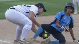 Pueblo West High School Senior Tori Cordova slides into third base during a contest two seasons ago. Cordova will look to be one of the Cyclones' senior leaders this year.