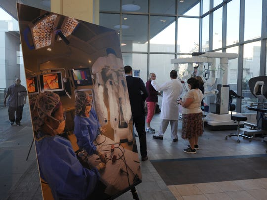 The Ventura County Medical Center introduces the hospital's da Vinci Xi, surgical system.