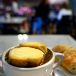 The French onion soup from Ghyslain.